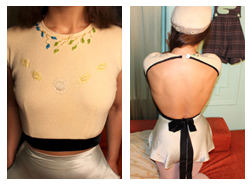 Cream Backless Sweater Mandate of Heaven